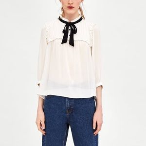 Zara Tops - Zara romantic top